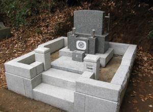 墓地一式のコーティング(施工後)